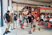Hunderte Besucher besichtigten am Samstag das neue gemeinsame Depot in Buriet-Thal. (Bild: Max Tinner)