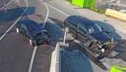 Die beiden Fahrzeuge sind schrottreif. (Bild: Kapo TG)