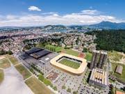 Swissporarena: Auch künftig vor allem von Fussballfans genutzt. (Bild: Philipp Schmidli)