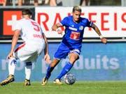 Daniel Follonier im letzten August bei einem Spiel gegen seinen Ex-Klub Sion (Bild: KEYSTONE/JEAN-CHRISTOPHE BOTT)