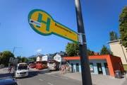 Zehn Minuten zu Fuss in die Altstadt: Der Reisebus-Terminal Nonntal in Salzburg. Bild: Salzburger Nachrichten/Robert Ratzer