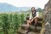 Sein neuer Wohnsitz ist der Campingplatz Buchs: Ex-Mister-Schweiz Tobias Rentsch. (Bild: Tatjana Schnalzger)