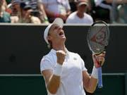 Erstmals in einem Wimbledon-Viertelfinal: der Südafrikaner Kevin Anderson (Bild: KEYSTONE/AP/KIRSTY WIGGLESWORTH)
