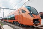 «Traverso»-Triebzug der Südostbahn beim Roll-out. (Bild: PD)