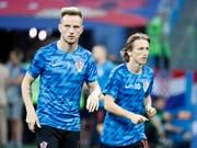 Auf sie wird es gegen England wieder ankommen: Kroatiens Antreiber im Mittelfeld, Ivan Rakitic (links) und Luka Modric (rechts) (Bild: KEYSTONE/EPA/FRANCK ROBICHON)