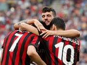 Die Spieler des AC Milan müssen sich bereits wieder an einen neuen Besitzer gewöhnen (Bild: KEYSTONE/AP/ANTONIO CALANNI)