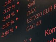 Der Handelsstreit ist wieder zurück in den Köpfen der Anleger. (Bild: KEYSTONE/ENNIO LEANZA)