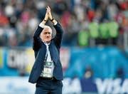 Frankreichs erfolgreicher Nationalcoach Didier Deschamps nach dem Sieg im Halbfinal gegen Belgien. (Bild: Martin Meissner/AP)