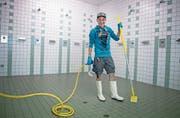 Will sich trotz seiner Cystischen Fibrose weiterbilden: Hauswart Simon Imboden (21).