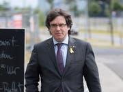 Carles Puigdemont nach einem Treffen mit dem katalanischen Regionalpräsidenten Quim Torra in Berlin am 21. Juni dieses Jahres. (Bild: KEYSTONE/EPA/MARKUS HEINE)