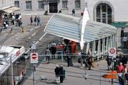 Bei einer Haltestellen-Verschiebung würde der «Calatrava» seine Funktion verlieren. (Bild: Urs Jaudas - 2. Mai 2009).