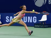 Steht im Wimbledon-Halbfinal der Juniorinnen: die Schaffhauserin Leonie Küng. (Bild: KEYSTONE/PETER KLAUNZER)