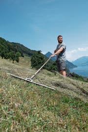 Während seiner Zweitlehre Vater von zwei Söhnen geworden: Landwirt Martin Zimmermann (27).