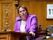 Falls die EU auf Konfrontation mit der Schweiz geht, will SVP-Vizepräsidentin Magdalena Martullo-Blocher auch Sanktionen bereithaben. (Bild: KEYSTONE/ANTHONY ANEX)
