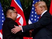 Laut Nordkoreas Machthaber der Beginn einer «bedeutsamen Reise»: Kim Jong Un und US-Präsident Donald Trump. (Bild: Keystone/AP/EVAN VUCCI)
