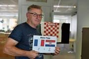 Mato Topic wohnt seit 1980 in Buchs. Für ihn ist klar, dass am Sonntag seine Kroaten gewinnen werden. (Bild: Heini Schwendener)