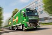 Die Holenstein AG Transporte/Logistik ist heute mit umweltfreundlichen EURO-6 Lastwagen unterwegs. (Bild: PD)