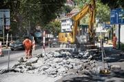 Die Bauarbeiten an der Torstrasse sind nur während der Sommerferien möglich. (Bild: Ralph Ribi)