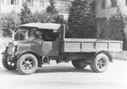 Im Jahre 1925 hat das Unternehmen den ersten Saurer-Lastwagen angeschafft. (Bild: PD)