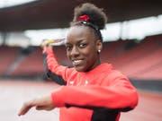 Yasmin Giger lief bei der U20-WM über 400 m Hürden als Dritte ins Ziel (Bild: KEYSTONE/ENNIO LEANZA)