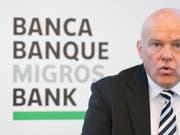 Die Migros Bank ist im ersten Halbjahr 2018 gewachsen und hat den Gewinn gesteigert. (Bild: KEYSTONE/ENNIO LEANZA)