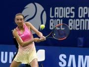 In Wimbledon nicht zu stoppen: die Schaffhauser Juniorin Leonie Küng. (Bild: KEYSTONE/PETER KLAUNZER)