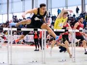 Jason Joseph - hier an den Schweizer Hallenmeisterschaften im Februar - sicherte sich in Zofingen den nationalen Freiluft-Titel mit Schweizer Rekord (Bild: KEYSTONE/MANUEL LOPEZ)