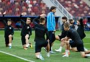 Das kroatische Team erhielt von der Fifa erneut eine Busse. (Bild: AP Photo/Rebecca Blackwell)