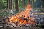 Feuer im Wald - nicht immer erlaubt. (Symbolbild Urs Bucher)