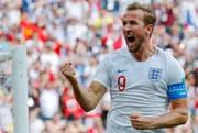 England's Harry Kane will auch gegen Belgien Tore erzielen. Grund für sein Bestreben: Der Stürmer will die Torjäger-Krone. (AP Photo/Antonio Calanni)