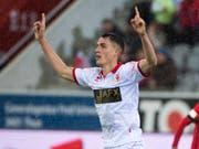 Kehrt leihweise in die Super League zurück: Vincent Sierro (hier im Dress von Sion) (Bild: KEYSTONE/ANTHONY ANEX)