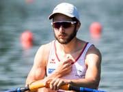 Michael Schmid ruderte auf dem Rotsee im Leichtgewichts-Einer der Konkurrenz davon (Bild: KEYSTONE/ALEXANDRA WEY)