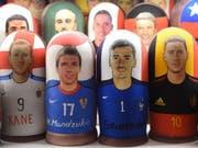 Mario Mandzukic mit Kroatien oder Antoine Griezmann mit Frankreich: wer wird am Sonntag in Moskau Weltmeister? (Bild: KEYSTONE/EPA/FACUNDO ARRIZABALAGA)