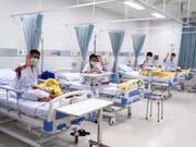 Nach ihrer Rettung aus einer Höhle wurden die thailändischen Jugendlichen zunächst im Spital untergebracht - am nächsten Donnerstag dürfen sie nach Hause. (Bild: KEYSTONE/EPA PUBLIC HEALTH MINISTRY/PUBLIC HEALTH MINISTRY/HANDO)