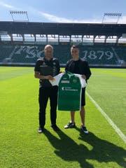 Vincent Sierro kommt leihweise vom SC Freiburg für die aktuelle Saison in die Ostschweiz. (Bild: pd)