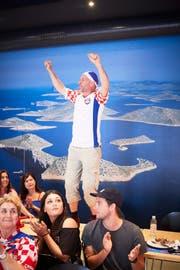 Ein Kroate in Feierlaune (Bild: Jakob Ineichen)