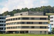 Nach der Konkursanmeldung ist das Gebäude in Bendern zu haben. (Bild: Tatjana Schnalzger)