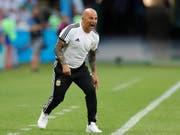 Wie erwartet wird das schwache WM-Abschneiden von Argentinien Nationaltrainer Jorge Sampaoli zum Verhängnis (Bild: KEYSTONE/AP/RICARDO MAZALAN)