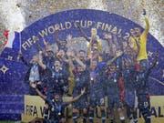 Frankreich feiert zum zweiten Mal nach 1998 den WM-Titel (Bild: KEYSTONE/AP/MATTHIAS SCHRADER)
