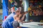 Das Rheinfest bot ein Programm für Besucher jeden Alters (Bild: Reto Martin)