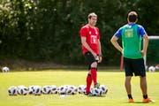 Nach den Stationen Nürnberg und Anderlecht ist er wieder zurück auf den Schweizer Fussballplätzen: René Weiler. (Bild: Alexandra Wey/Keystone (Luzern, 28. Juni 2018))