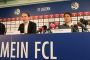 Remo Meyer (links) habe ihn überzeugt, zum FCL zu kommen, sagt Weiler. (Bild: Martin Meienberger/freshfocus (Luzern, 22. Juni 2018))