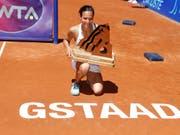 Viktorija Golubic gewann 2016 bei der Premiere völlig überraschend das WTA-Turnier in Gstaad (Bild: KEYSTONE/PETER KLAUNZER)
