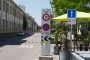 Die Säntisstrasse soll bereits ab der Verzweigung Hubstrasse als Einbahnstrasse geführt werden. Anwohner der Säntisstrasse wehren sich jedoch dagegen. (Bild: Claudio Weder)