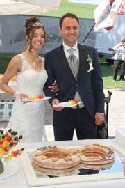 Erika und Oliver Martin feiern auf Schloss Berg ihre Hochzeit. (Bild: PD)