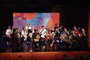 Das Nachwuchsorchester überzeugte mit geballter Energie und seinem Können. (Bild: Paul Trummer)