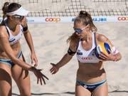 Nina Betschart (rechts) und Tanja Hüberli sind an der EM in den Niederlanden als Nummer 5 gesetzt (Bild: KEYSTONE/PETER SCHNEIDER)