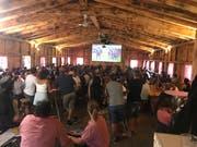 Die Fussballhütte war auch beim Final gut besucht. (Bild: PD)