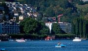 Pedalos in der Luzerner Seebucht auf dem Vierwaldstättesee (Bild: Corinne Glanzmann (Luzern, 1. Juli 2018))