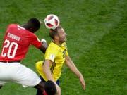Johan Djourou im Achtelfinal gegen Schwedens Toivonen (Bild: KEYSTONE/AP/DMITRI LOVETSKY)